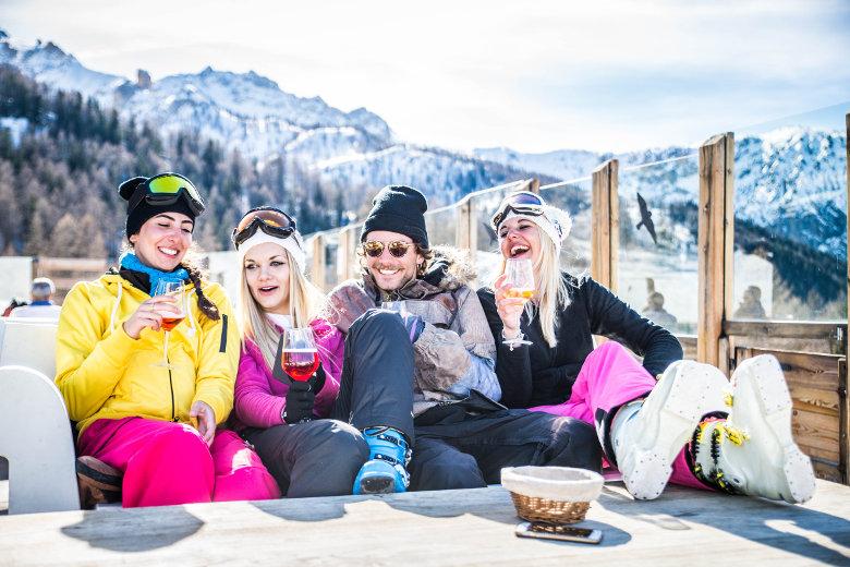 Après Ski mit Freunden