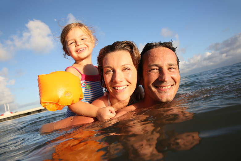 Familienausflug See